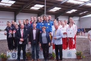 Siegerehrung Bremer Meisterschaft Voltigieren2015